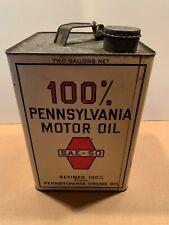 Vintage PENNSYLVANIA MOTOR OIL Can Crude Oil