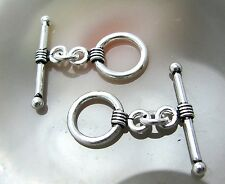 2 Bali Sterling Silver Fancy Toggle Clasps <#871>