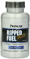 Twinlab Ripped Fuel Extreme Fat Burner, Ephedra Free, 60 Capsules, New