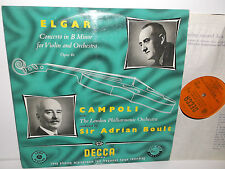 LXT 5014 Elgar Violin Concerto Alfredo Campoli London Philharmonic Orch Boult OG