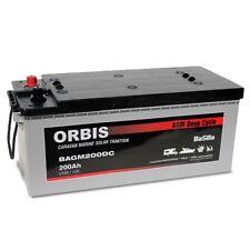 200Ah Orbis AGM Batterie D'Alimentation pour Caravan Solaire Womo Caravane Botte