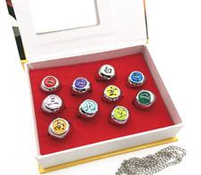 More details for 10 pcs naruto rings naruto akatsuki cosplay member's ring set fast shipping