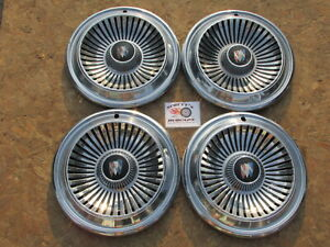 """1966 BUICK LESABRE 14"""" WHEEL COVERS, HUBCAPS, SET OF 4"""