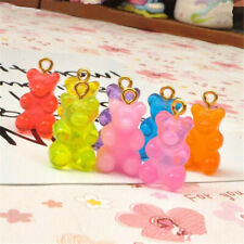 10pcs Resin Cute Bear Charms Pendant DIY Making Necklace Earrings Jewelry