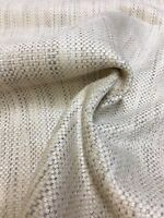 MARK & SPENCER / NEXT CREAM THICK CHENILLE UPHOLSTERY FABRIC 1.5 METRES