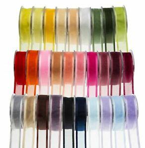 Satin Edge Organza Ribbon~Double Faced~Various Widths, Colours~PER METER