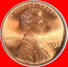 1992 P & D Lincoln Cents Choice/Gem Bu from mint sets