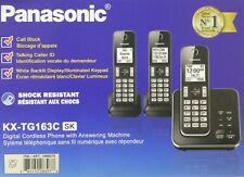 Panasonic KX-TG163K Cordless Telephone System 3 Handset Answering Machine