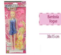 Bambola Vogue Con Accessori Gioco Giocattolo Bimba Bambina dfh