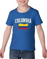 Colombia  Heavy Cotton Toddler Kids T-Shirt Tee