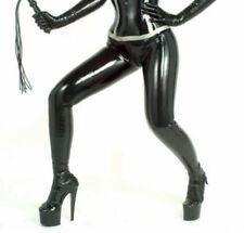 Ladies' Latex Pull on Leggings - With Feet by LATEXA BLACK Fetish S 1193 NEW