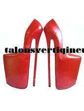 Ultra sexy sky high heels real leather made 30 cm shoes.Choose your size & color