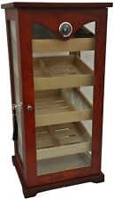 Humidor cabinet hold 100 cigars glass door and three glass walls hygrometer