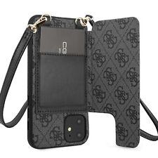 Guess iPhone 11 4G Crossbody Cardslot Schultergurt Hülle Tasche Case Cover Grau