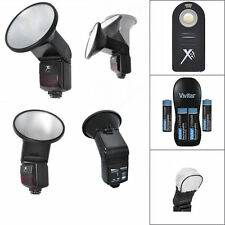 PRO FLASH + REMOTE + CHARGER + BATTERIES FOR CANON EOS REBEL T5 T5I T6 T6I T6S