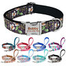 Personalized Dog Collar Leash Set Free Engraved NAME Adjustable Dogs Nylon Lead