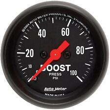 UNIVERSIAL DODGE FORD CHEVY AUTO METER Z-SERIES BOOST GAUGE 2618..