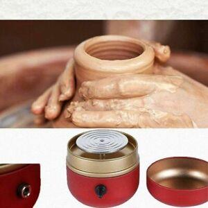 Mini Electric Pottery Wheel Machine W/ Tray For DIY Ceramic Work Clay Art Craft