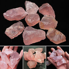 Natural Pink Quartz Crystal Stone Rock Mineral Specimen Healing Collectible set