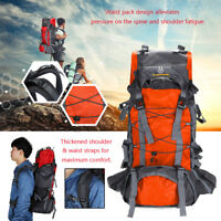 60L Unisex Camping Travel Rucksack Trekking Outdoor Backpack Hiking Bag Daypacks