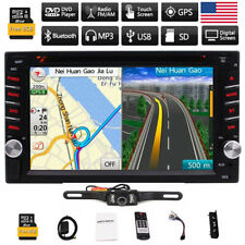 "7"" Touch Double 2DIN Car DVD CD Radio Stereo Player GPS Navigation SD BT Camera"