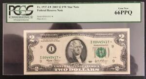 USA. 2003. 2 DOLLARS STAR REPOSITION NOTE. PCGS GRADED GEM NEW. LOOK!