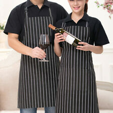 Men Women Adjustable Bib Apron Cooking Kitchen Restaurant Chef Dress with Pocket