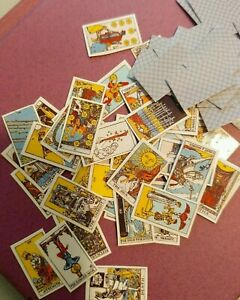 Dollhouse Miniature Tarot Cards Spell Fortune Telling 78 Deck Rider-Waite 1:12