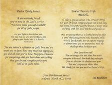Pastor, Clergy and First Lady, Wife Gratitude Appreciation Poems Print