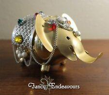 Vintage Jeweled Napier Elephant Coin Bank