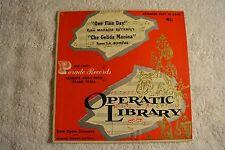 Operatic library parade record 9031  45RPM  Parade Records