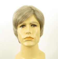 Perruque homme 100% cheveux naturel blanc méché gris ref VICTOR 51