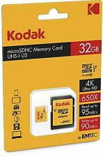 Kodak Tarjeta de memoria SD 32GB microSDHC clase 10 Tarjeta Con Adaptador Para Smartphones