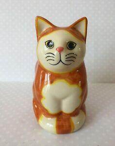 Quail Ceramic Medium Ginger/Marmalade & White Cat ' Monty' Figurine