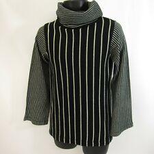 Vintage Donnkenny Turtleneck Sweater Women's Size M Striped Medium Acrylic