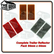 TRAILER REFLECTORS RED AMBER CLEAR SELF ADHESIVE CAMPER VAN TRUCK CARAVAN