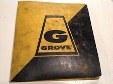GROVE RT755 Crane Illustrated PARTS Manual Caterpillar 3208 10/1980