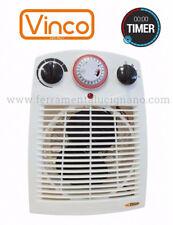 VINCO 70303 CALDOBAGNO TERMOVENTILATORE DA BAGNO 1000/2000W CON TIMER PROGRAMM.