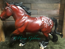 Resin Model Horse Andre W/New Braided Tail Red Bay Blanket Appaloosa =)