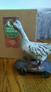 "american chestnut folk art ""Goose on a Cart"" MIB"