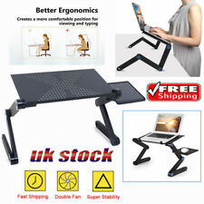Portable Folding Laptop Desk Adjustable Computer Table Stand Tray for Bed Sofa a