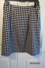 Classique Entier(Nordstrom) black/white skirt, NWT, 10, lined, above knee