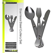 Yellowstone 3pc Stainless Steel Cutlery Set - Camping Bushcraft Survival
