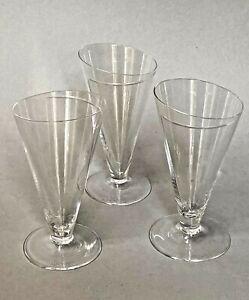 "CENEDESE, Giovanni Murano Glass, SET OF THREE  5 1/2"" Slanted Glasses RARE"