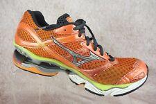 Mizuno Wave Creation 13 Running Shoes Sun Orange Silver Wild Lime Women's 9.5