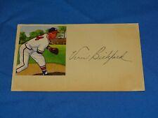 Vintage Baseball Autograph Signed Index Card, VERN BICKFORD (#42)