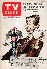1968 TV Guide August 31 - Johnny Carson;Isaac Asimov;G.D. Spradlin;Nam June Paik