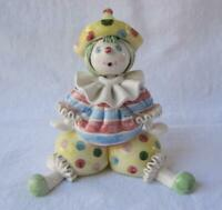 Exquisite Rare Vintage Porcelain Clown Made in Italy for Gumps San Francisco 22