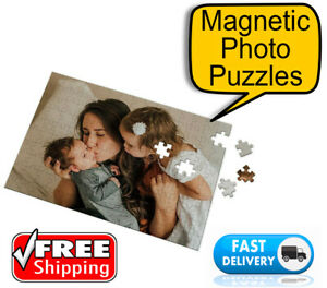 🏅 Magnetic Jigsaw Photo Puzzle 120 pieces Personalised Birthday Christmas Gift