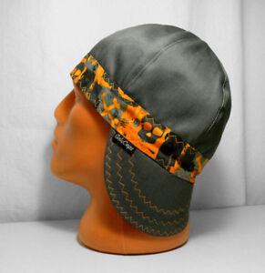 Y-04 Banded Skulls/Gray Welders, Pipefitters, Bikers Cap, Welding Hat for Work